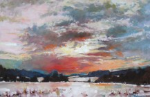 Winter Sunset, Stokenchurch