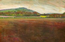 Aston Hill with ploughed field