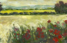 Poppies, Wheat and Rape