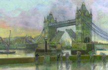 Tower Bridge in the rain